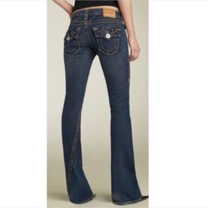True Religion big Joey T low-rise flared jeans